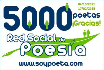 """La Red Social de Poesía """"Soypoeta.com"""" alcanza los 5.000 poetas consagrada a fomentar de la lectura y escritura de poesía"""