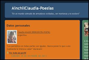 Ainchil Claudia -Poesias