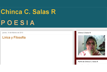 'Lírica y Filosofía'. Blog de Chinca C. Salas R.
