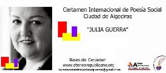 IX Certamen Internacional Bianual de Poesía Social Ciudad de Algeciras Julia Guerra, 2017