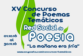Abierto el plazo para presentar poemas al XV Concurso de Poemas Temáticos Red Social de Poesía:
