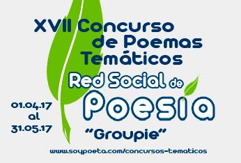 Hasta el 31 de mayo puedes participar en el XVII Concurso de Poemas Temáticos Red Social de Poesía: