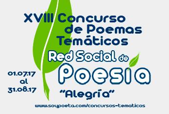 Cerrado el plazo de envío de poemas al XVIII Concurso de Poemas Temáticos Red Social de Poesía: