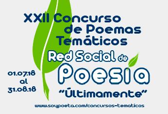 Cerrado el plazo de envío de poemas al XXII Concurso de Poemas Temáticos Red Social de Poesía: