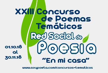 XXIII Concurso de Poemas Temáticos Red Social de Poesía: