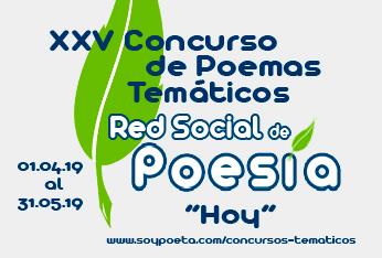 Abierto el plazo para presentar poemas al XXV Concurso de Poemas Temáticos Red Social de Poesía: