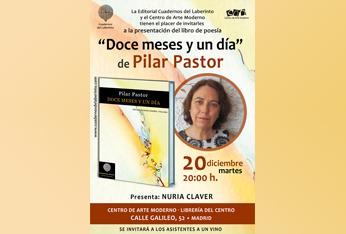 La poeta Pilar Pastor presenta 'Doce meses y un día'