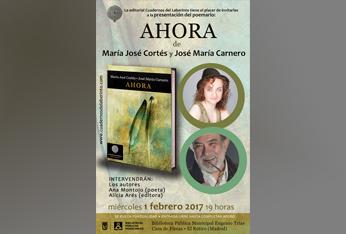 """Entrevistamos a María José Cortés y José María Carnero Montesinos con motivo de la presentación de su obra poética """"Ahora""""."""