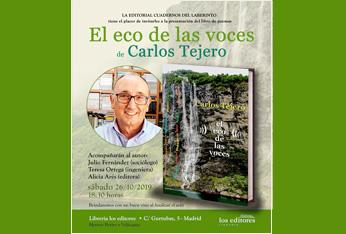 El poeta Carlos Tejero presenta su poemario