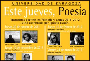 Ciclo 'Este jueves, poesía', 2011