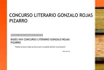 XVII Concurso Literario de Poesía y Cuento 'Gonzalo Rojas Pizarro'