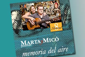MartayMicó, el dúo formado por Marta Boldú y José María Micó, en el Libertad 8