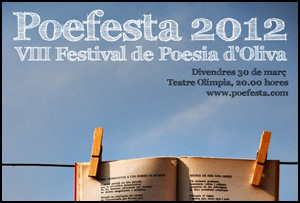VIII Festival de Poesía de Oliva, Poefesta, 2012