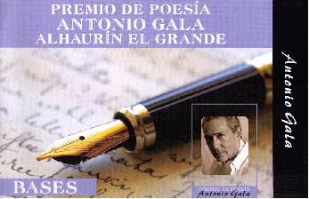 XI Premio internacional de Poesía Antonio Gala, 2017