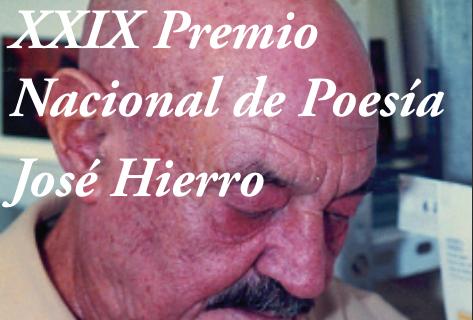 XXIX Premio Nacional de Poesía José Hierro, 2018