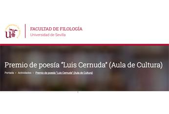 II Premio de Poesía Luis Cernuda, 2018