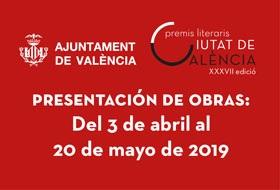 XXXVII Premios literarios Ciutat de Valencia, 2019 - Poesía en castellano Juan Gil-Albert