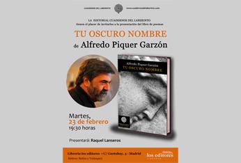 Alfredo Piquer Garzón presenta su poemario