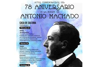 Rocafort conmemora el 78 aniversario de la muerte de Antonio Machado