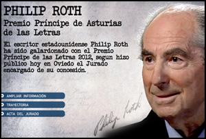 El estadounidense Philip Roth gana el Premio Príncipe de Asturias de las Letras 2012