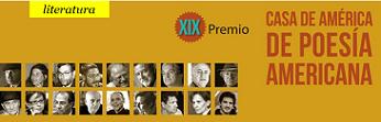 XIX Premio Casa de América de Poesía Americana, 2019