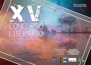 XV Concurso Literario de Poesía y Cuento 'Gonzalo Rojas Pizarro', 2017