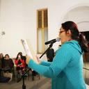 Recitando poesia